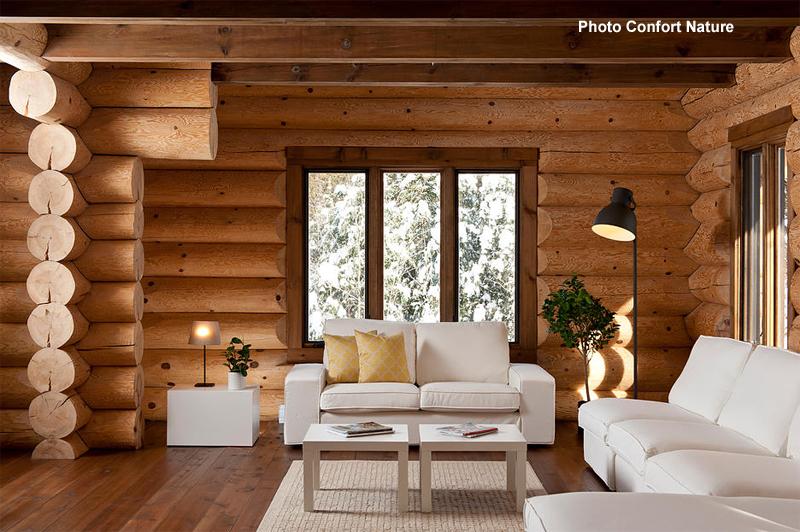 maisons bois massif rond