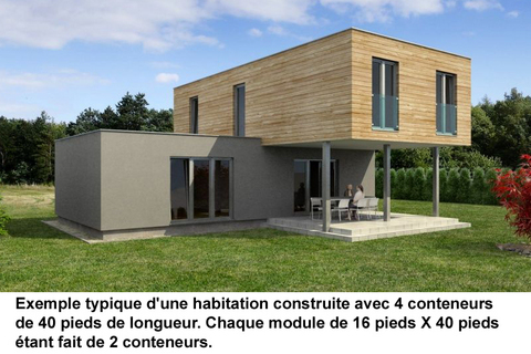 conteneurs recycles construction maisons