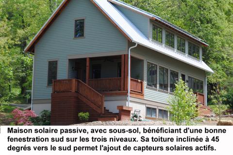 plan maison solaire passive