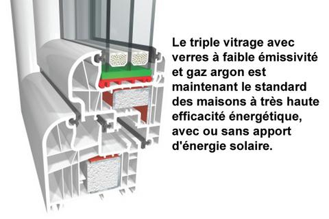 vitrage maison solaire passive