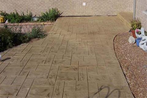 patio beton estampe