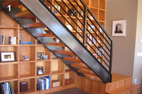 escalier contemporain interieur construction