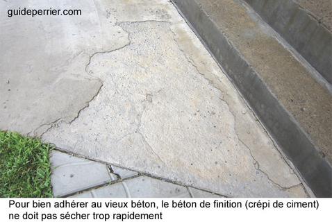 reparer plancher beton exterieur