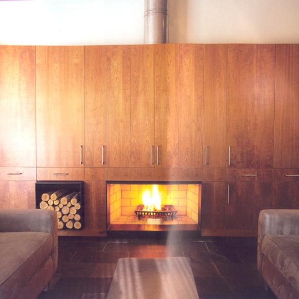 foyer intégré poele bois