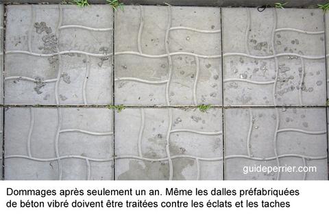 dalles beton dommages reparation
