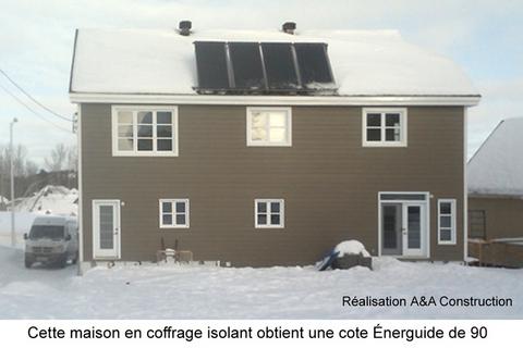 coffrage isolant maison quebec