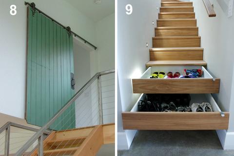 escalier contemporain interieur