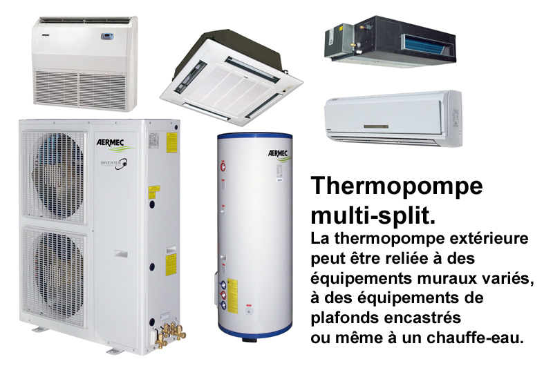 multisplit thermopompes air-air montreal