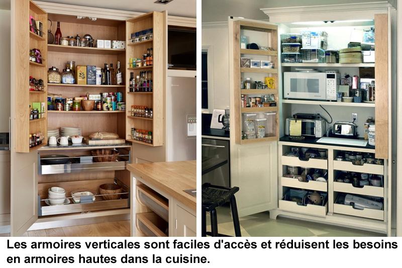 armoires verticales cuisines