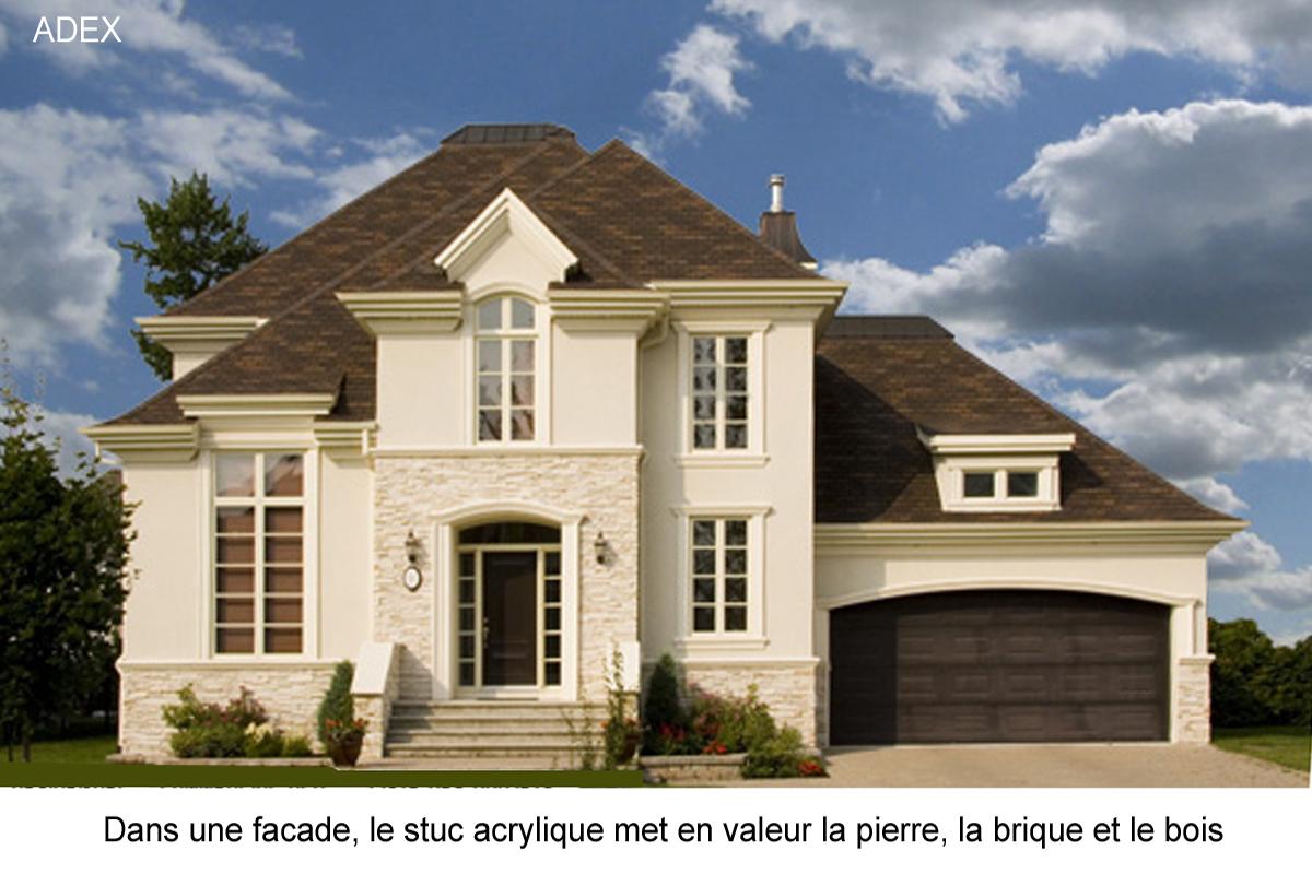 facade stuc acrylique maison