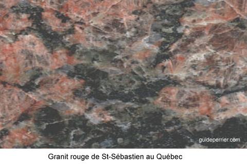 pierre granit rouge