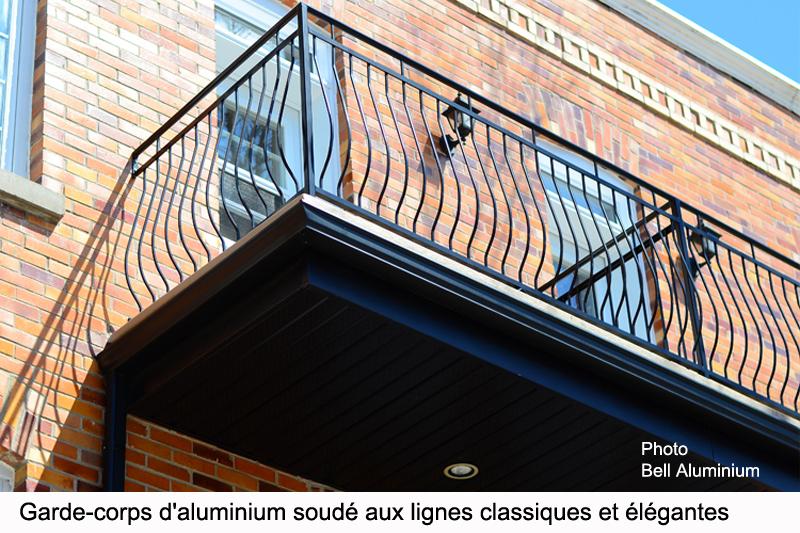 design garde corps aluminium