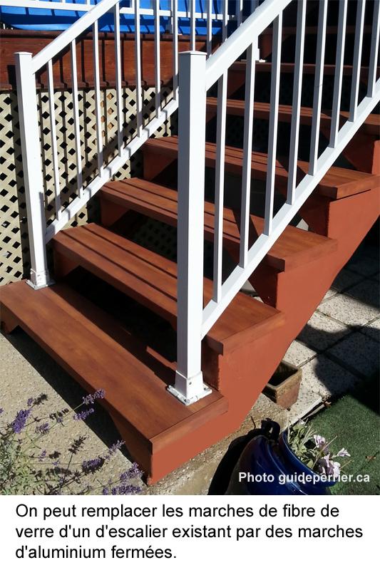 escalier remplacement marches