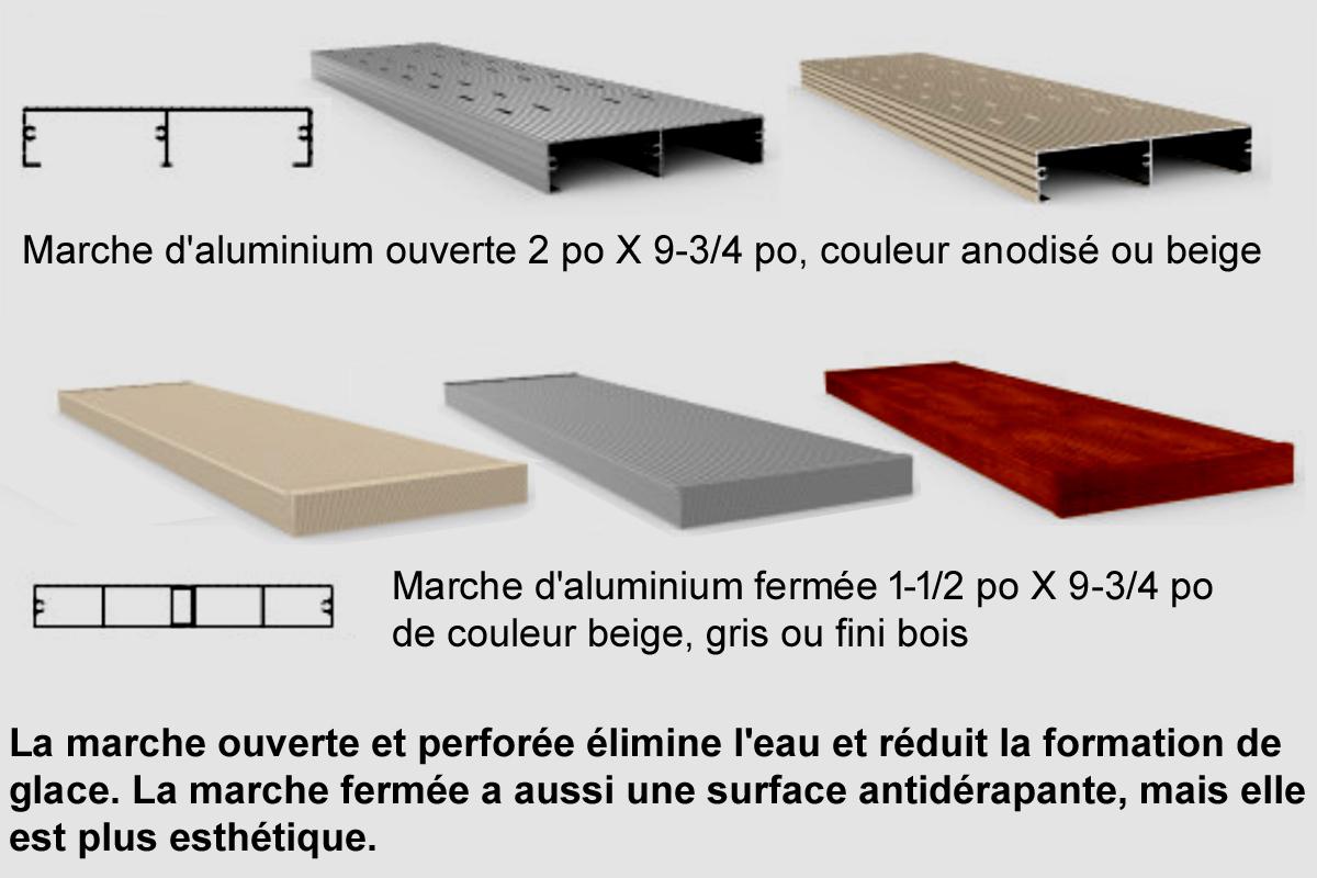 Antidérapant Pour Escalier En Bois marches d'aluminium idéales pour tous les escaliers