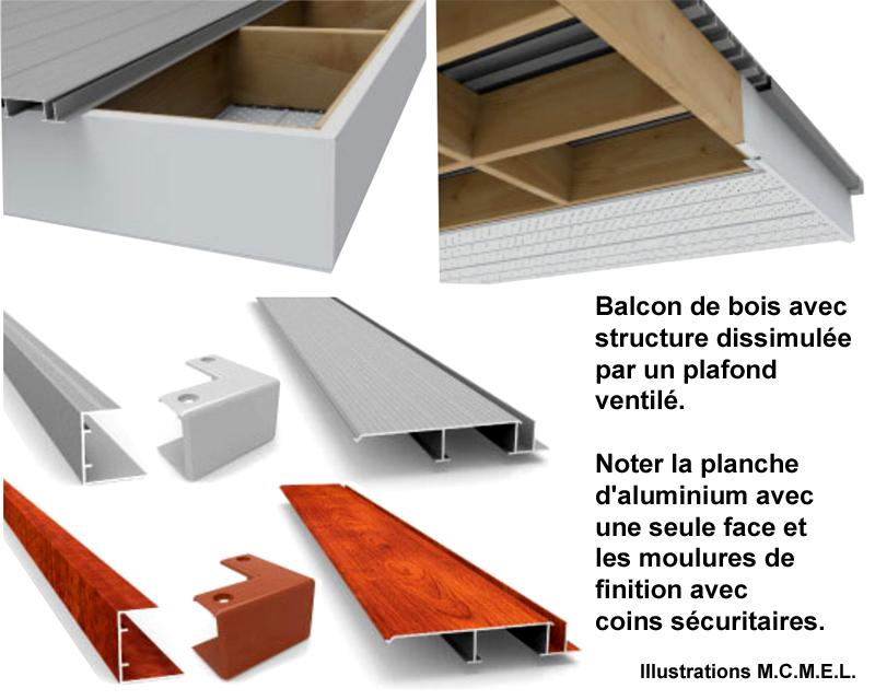 plancher balcon aluminium