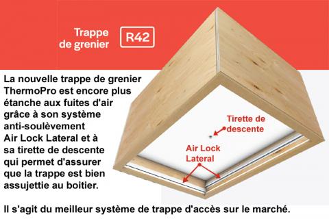 Trappes d'accès à l'entretoit ThermoPro et ThermoShield