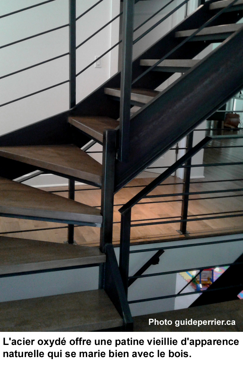 escalier metal finition