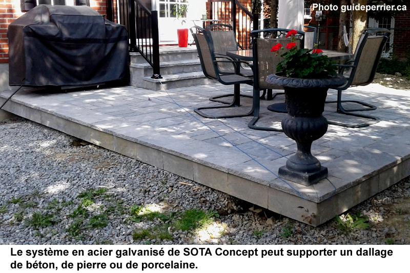 terrasse pavage beton
