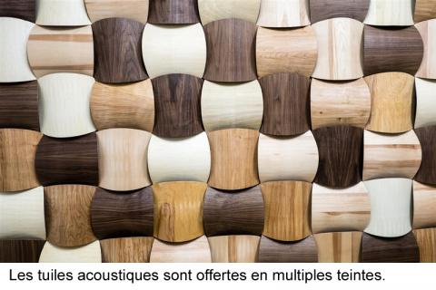 tuiles acoustiques bois