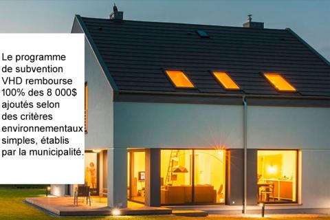 Victoriaville Habitation Durable (VHD): des maisons écologiques et économiques