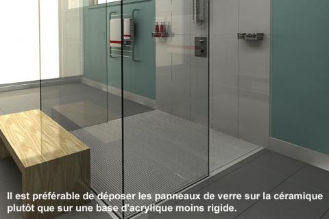 Douche à l'italienne pour salle de bain contemporaine