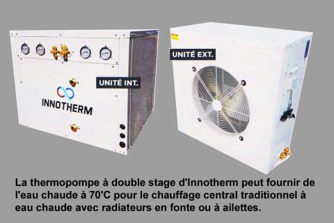 Innotherm: thermopompe air-eau pour radiateurs à eau chaude
