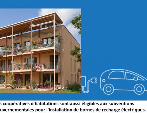 Coopératives d'habitation et subventions pour bornes de recharges